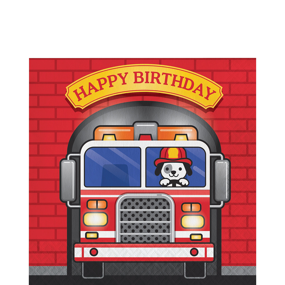 Fire Truck Basic Party Kit for 16 Guests Image #5