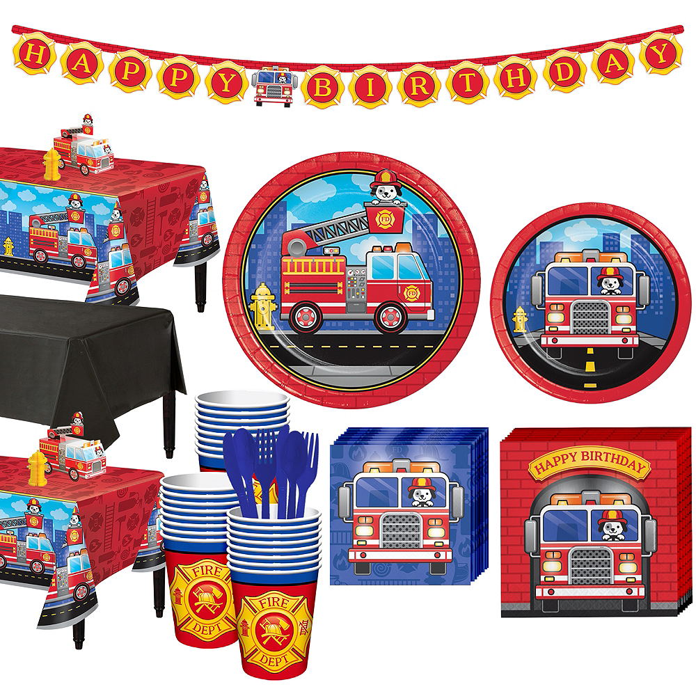 Fire Truck Basic Party Kit for 24 Guests Image #1