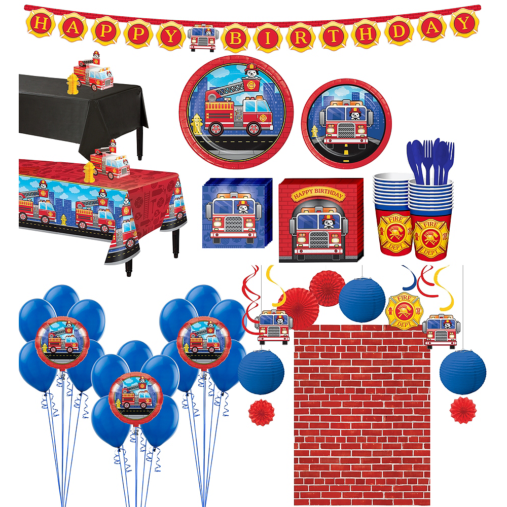 Fire Truck Ultimate Party Kit for 16 Guests Image #1
