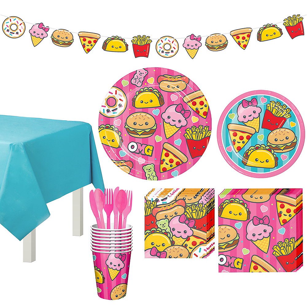 Nav Item for Junk Food Fun Tableware Party Kit for 8 Guests Image #1