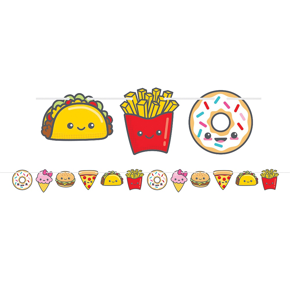 Junk Food Fun Tableware Party Kit for 8 Guests Image #9