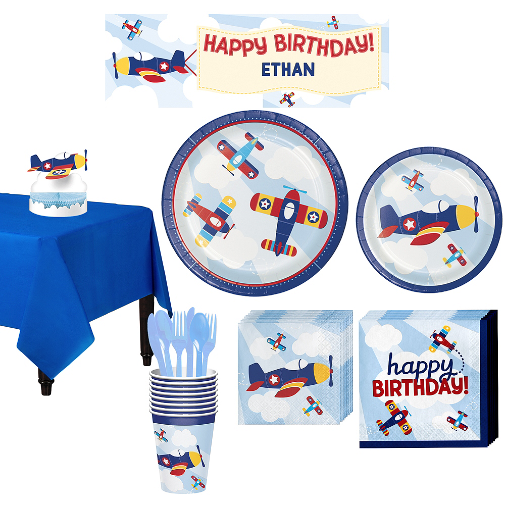 Airplane Basic Party Kit for 8 Guests Image #1