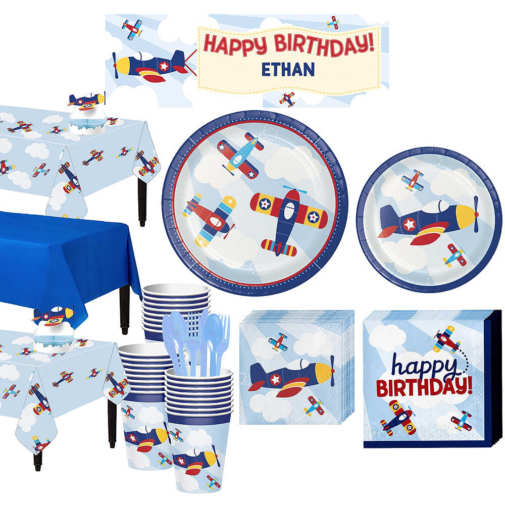 Airplane Basic Party Kit for 24 Guests Image #1