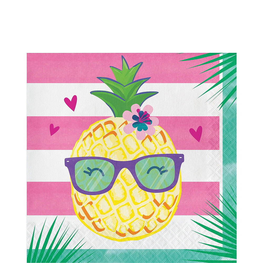 Striped Tropical Basic Party Kit for 8 Guests Image #5