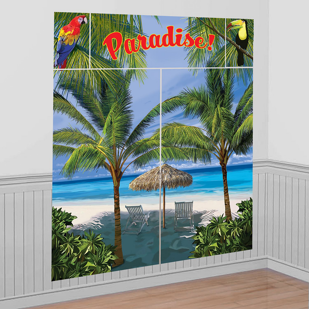 Striped Tropical Ultimate Party Kit for 16 Guests Image #17