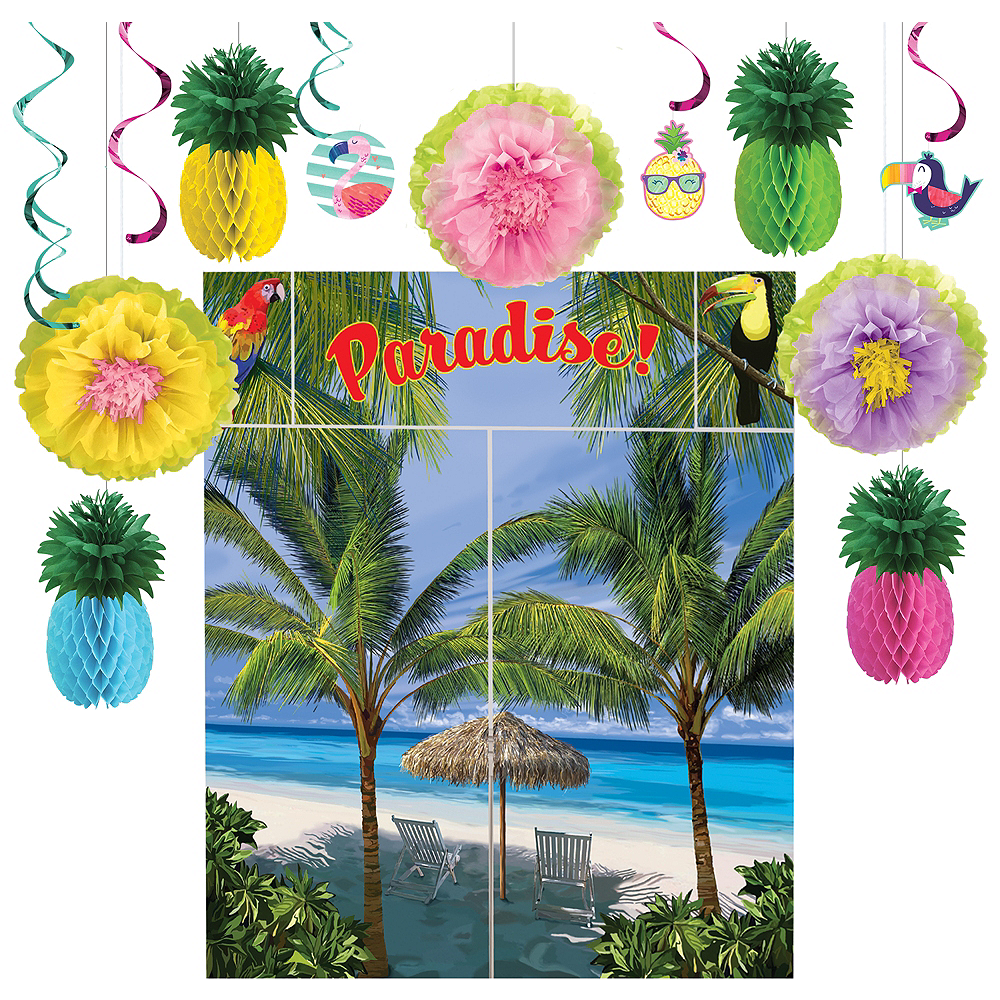 Striped Tropical Decorating Kit Image #1