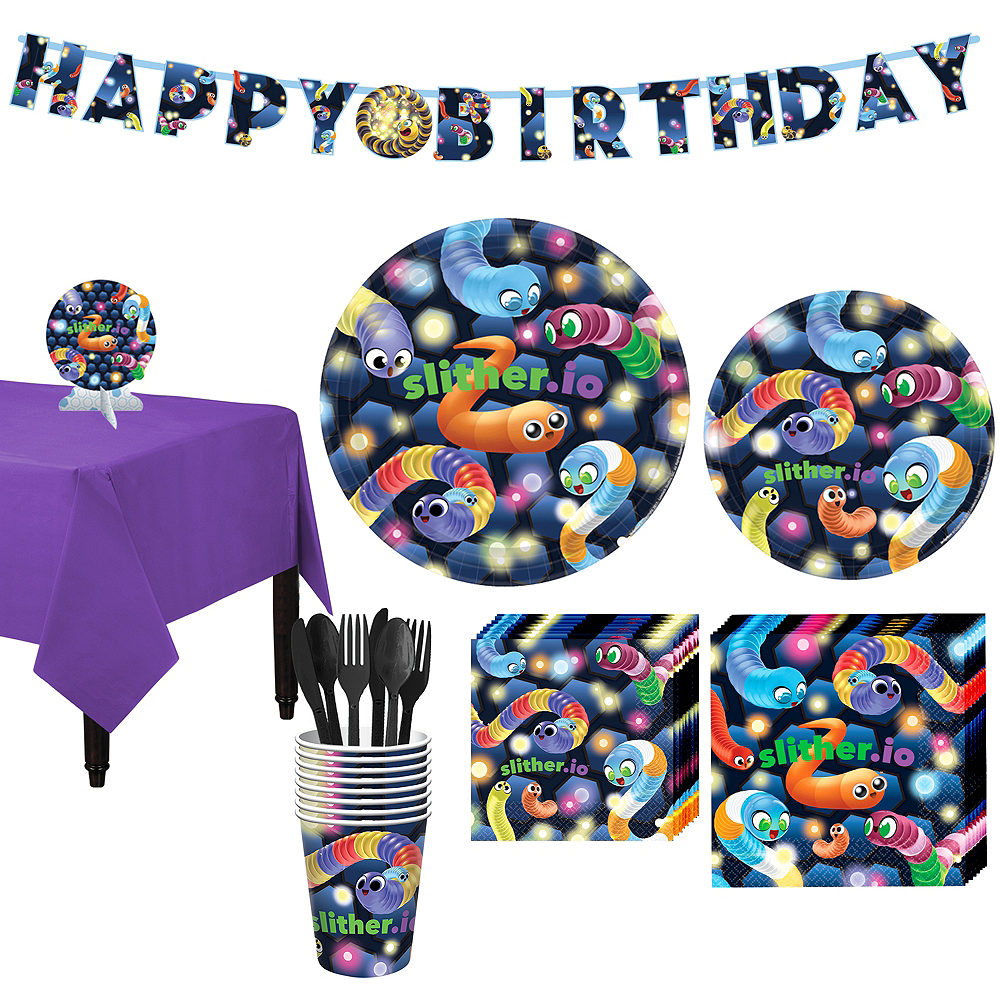 Slither.io Basic Party Kit for 8 Guests Image #1