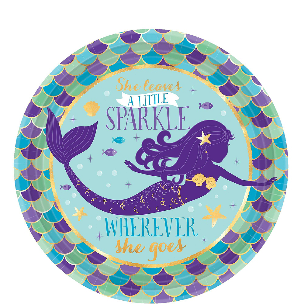 Wishful Mermaid Basic Party Kit for 8 Guests Image #2