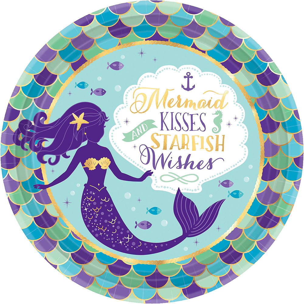 Nav Item for Wishful Mermaid Basic Party Kit for 24 Guests Image #3