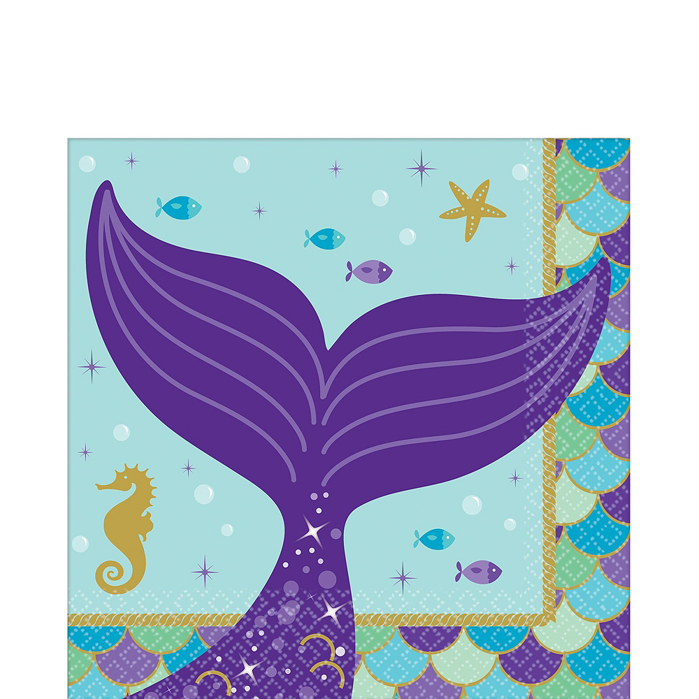 Nav Item for Wishful Mermaid Basic Party Kit for 24 Guests Image #4