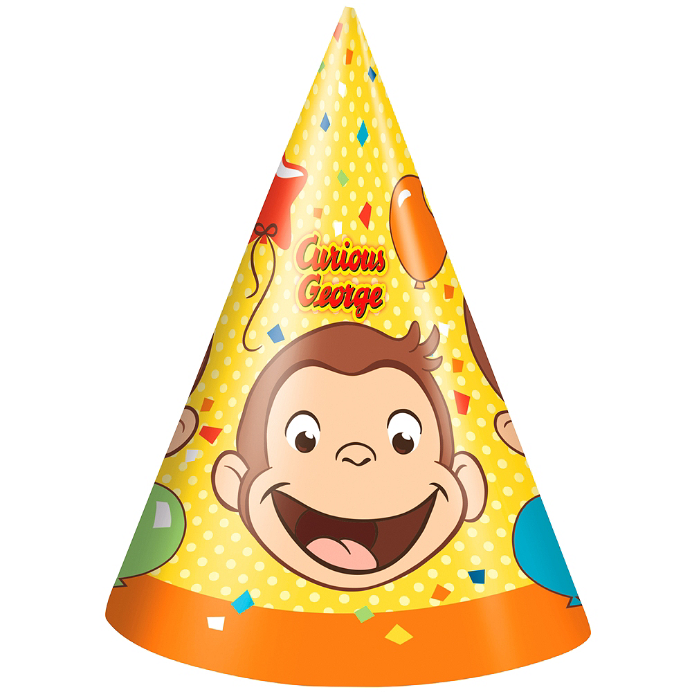 Curious George Party Hats 8ct Image #1