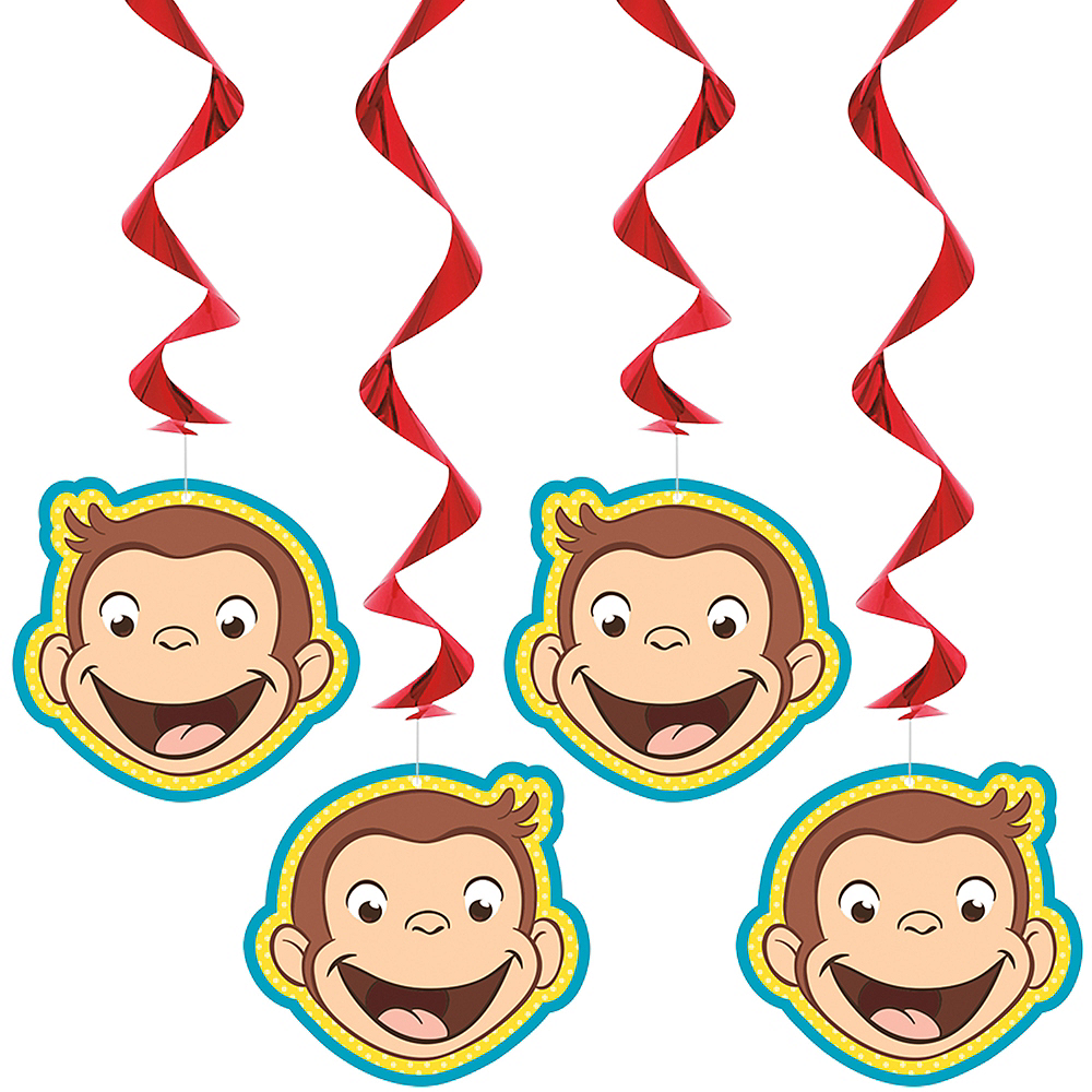 Monkey Curious George Stickers x 5 Curious George Birthday Party Favours