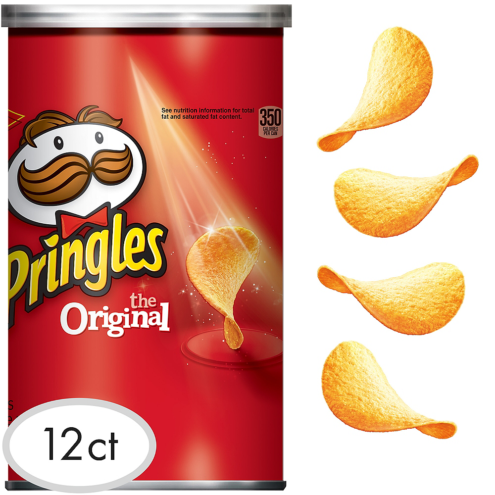 Pringles Original Potato Crisps 12ct