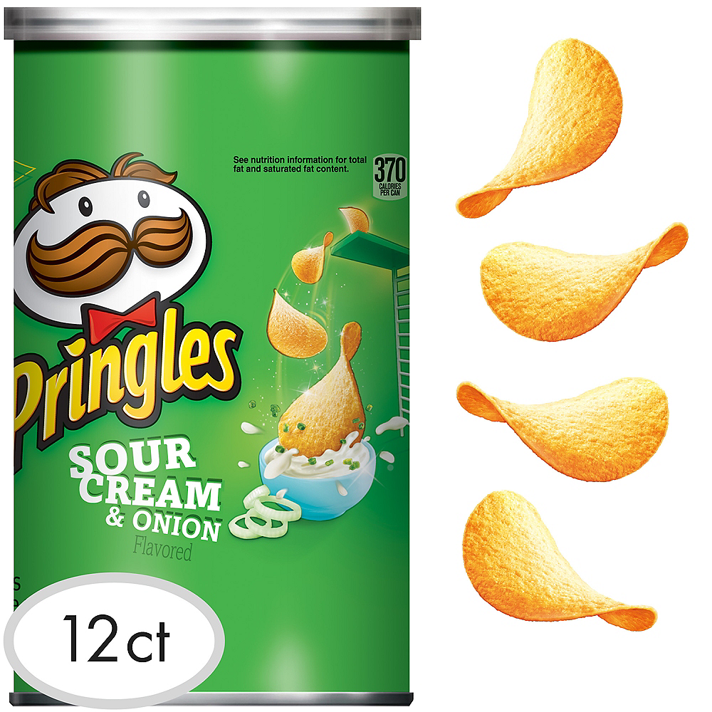 Pringles Sour Cream & Onion Potato Crisps 12ct Image #1