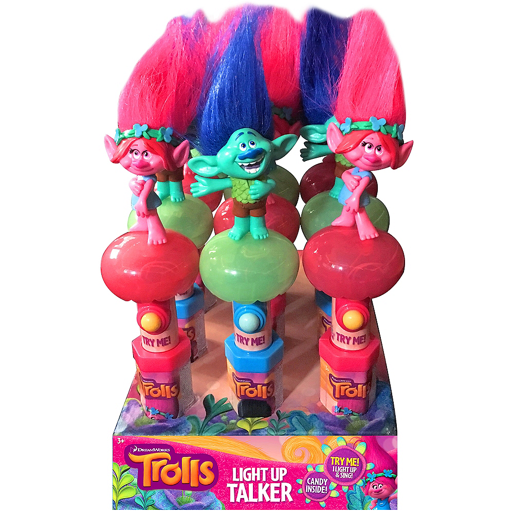 Light-Up Singing Trolls Candy Dispensers 12ct Image #2