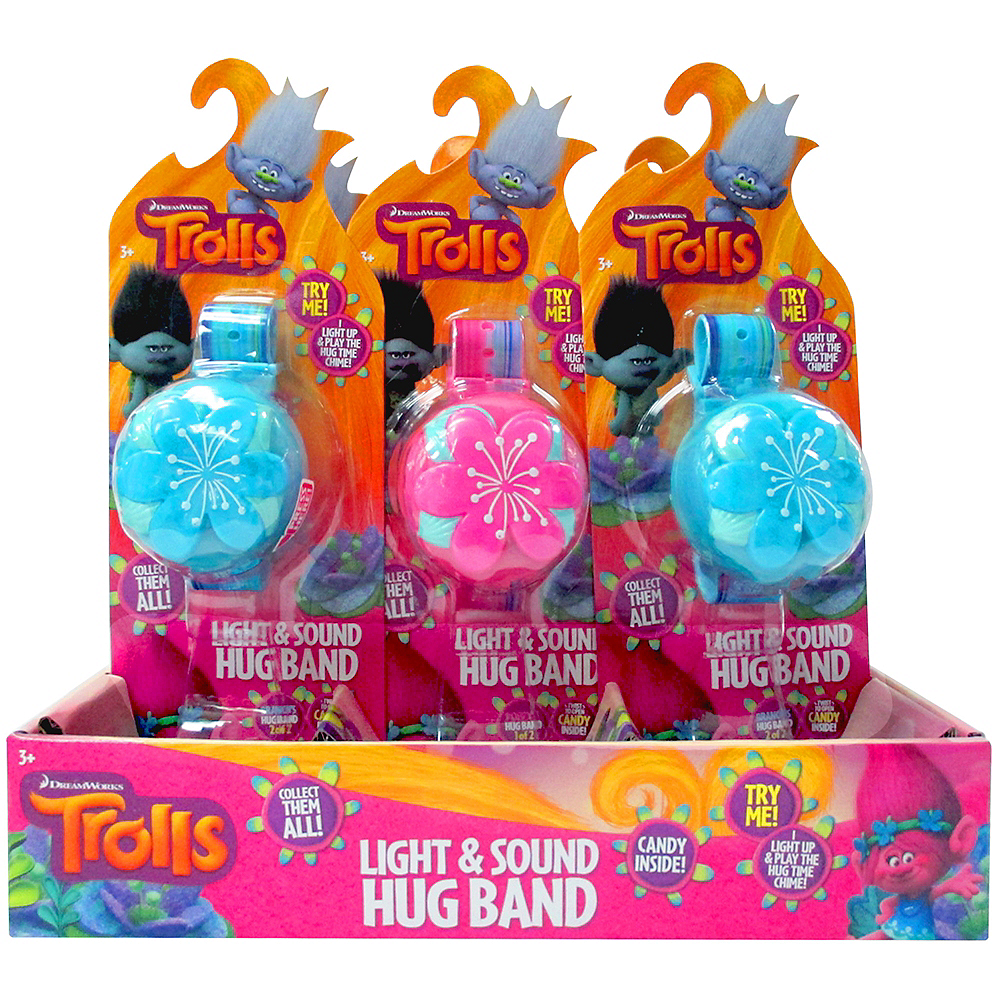 Light-Up Trolls Hug Bands with Candy 12ct Image #2