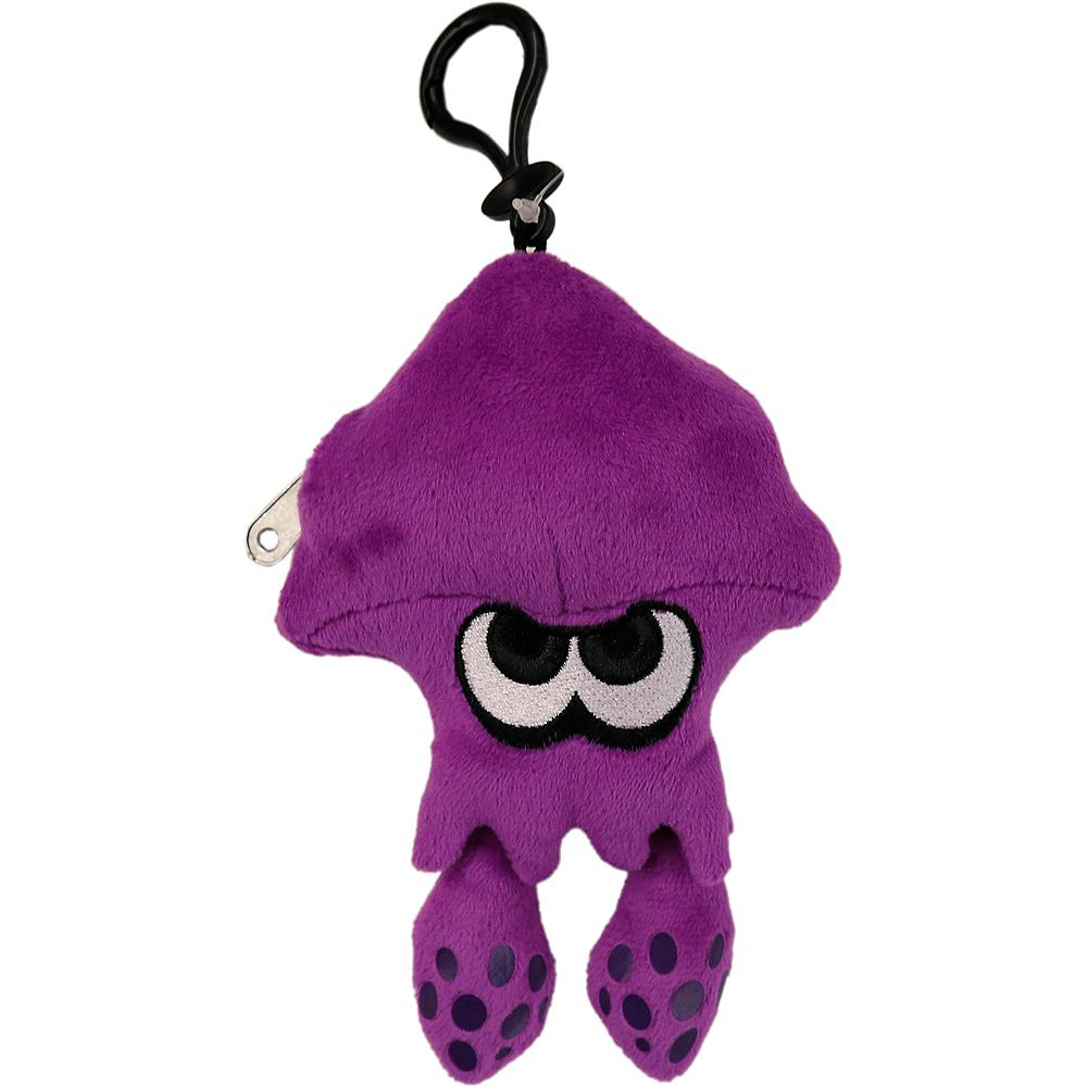 clip on purple inkling squid plush 4in x 6in splatoon party city