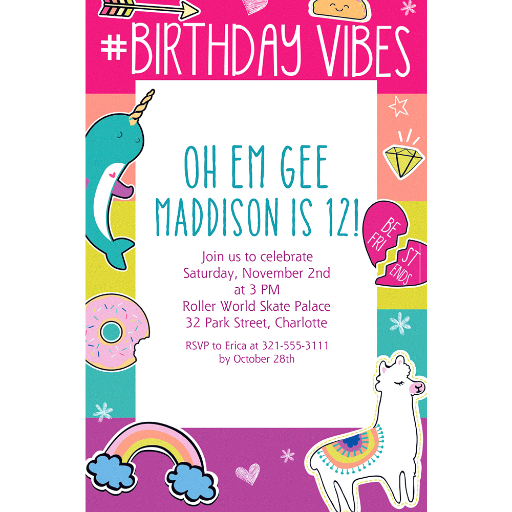 Custom selfie birthday invitation party city custom selfie birthday invitation filmwisefo