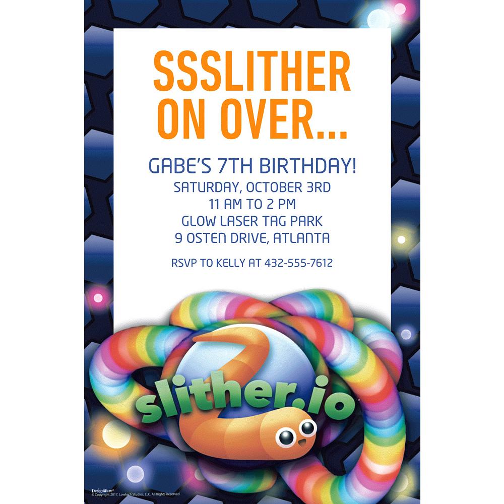 Custom Slither Io Invitation Party City