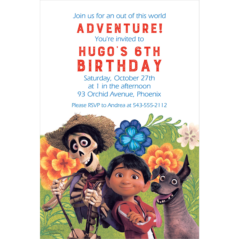 Custom Coco Invitation Image 1