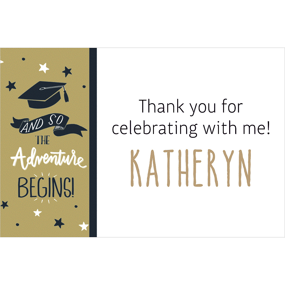 Custom The Adventure Begins Thank You Note Image #1