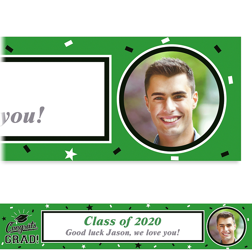 Custom School Colors Pride Green Photo Banner Image #1