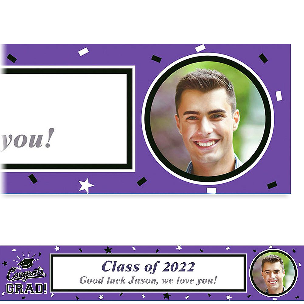 Custom School Colors Pride Purple Photo Banner Image #1