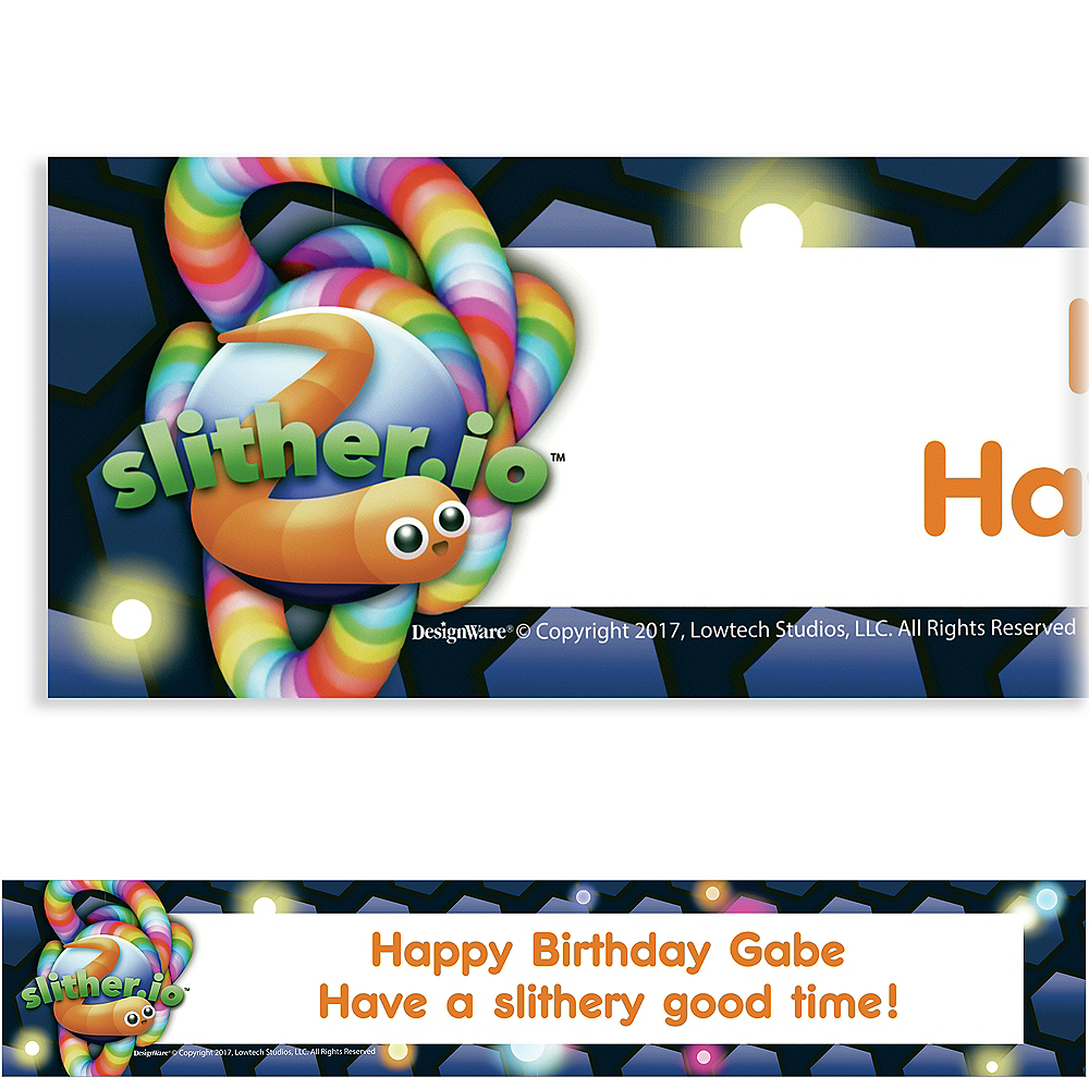 Custom Slither Io Banner Party City