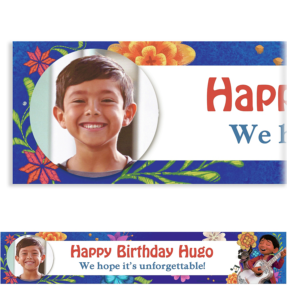 Personalized /& Custom Printed Coco Birthday Party Banner Poster Decoration