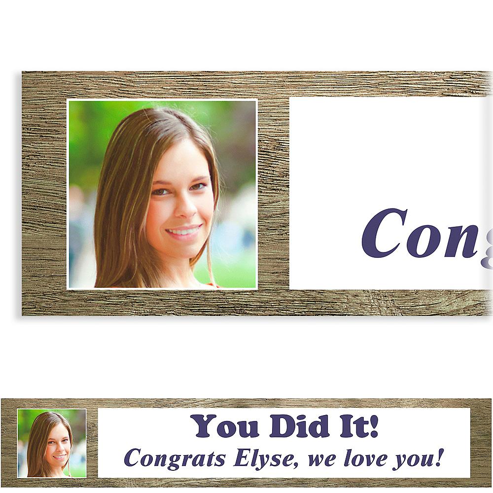 Custom Wooden Celebrate the Graduate Photo Banner Image #1