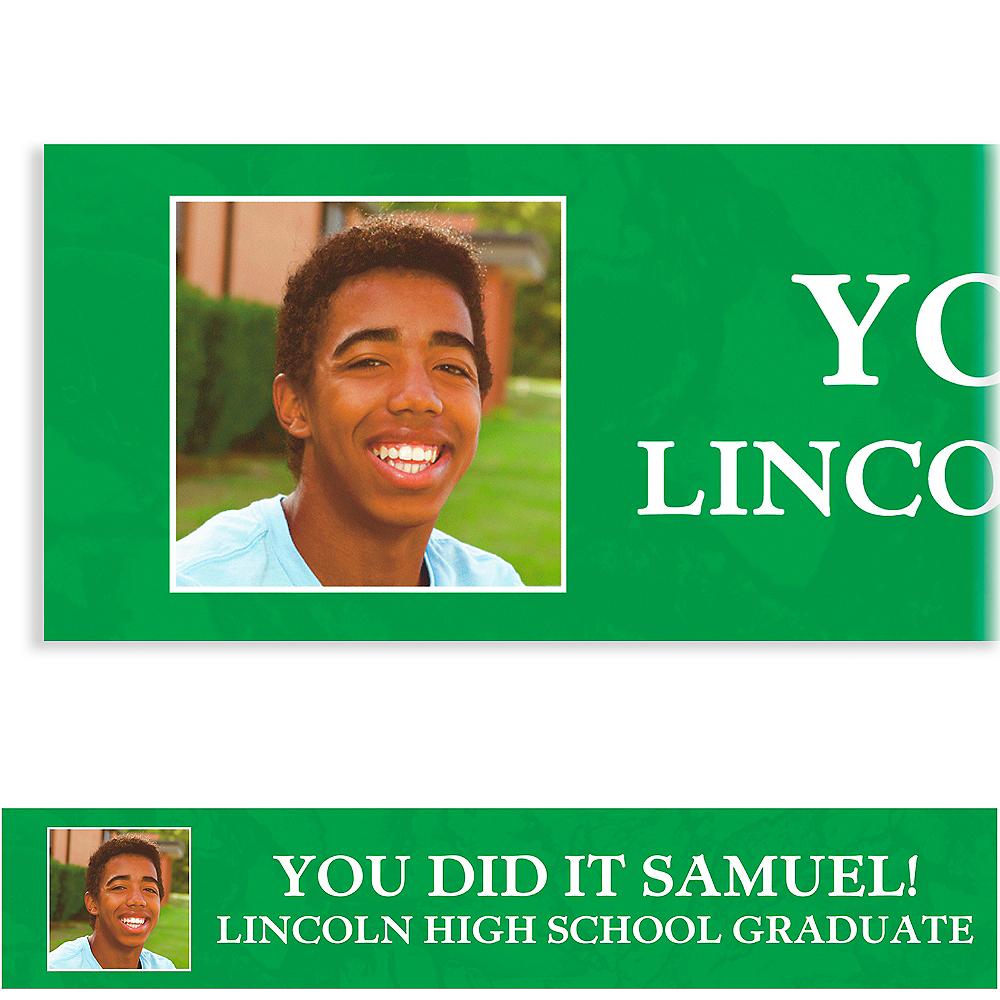 Custom Emerald Stone Collage Grad Photo Banner Image #1