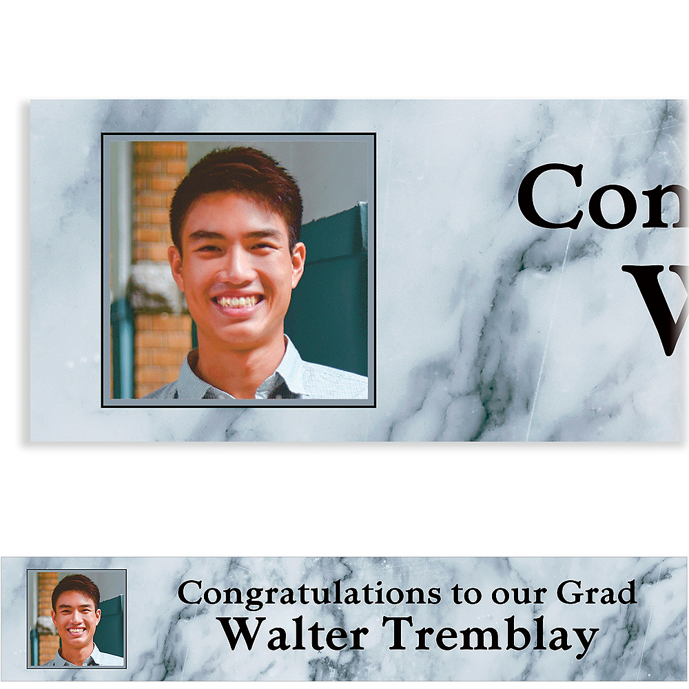 Custom Marble Collage Graduate Photo Banner Image #1