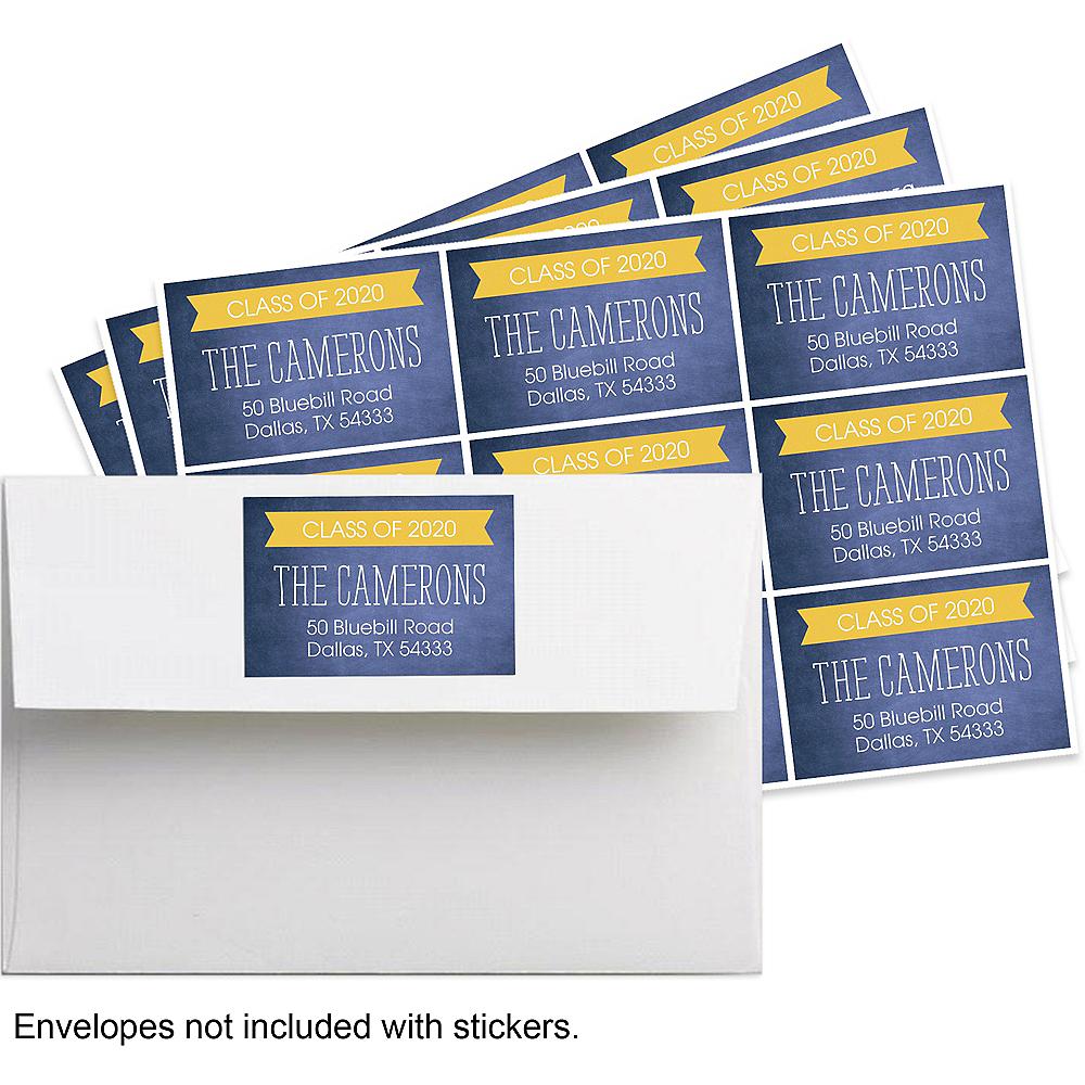 30 Personalized Printed Peel /& Stick  Return Address Labels ~ Graduation Caps