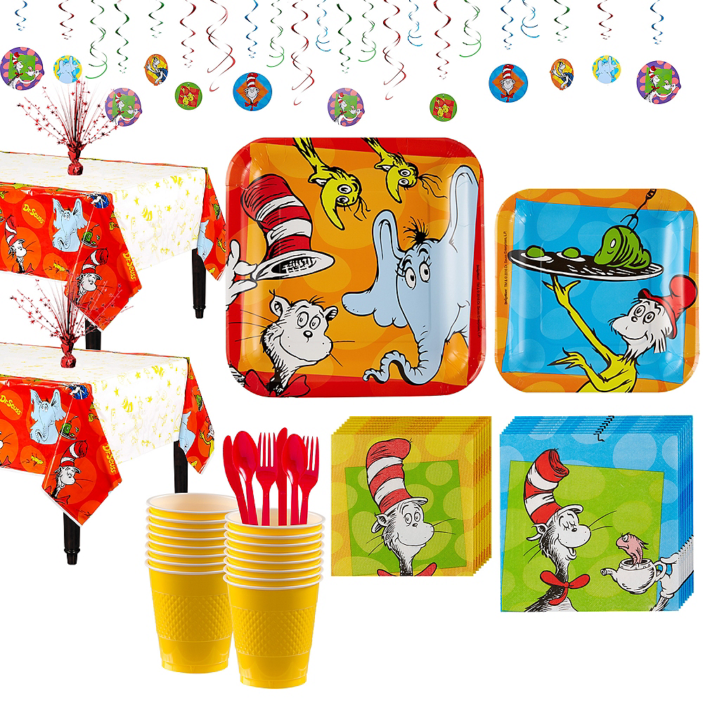 Dr. Seuss Tableware Party Kit for 16 Guests Image #1