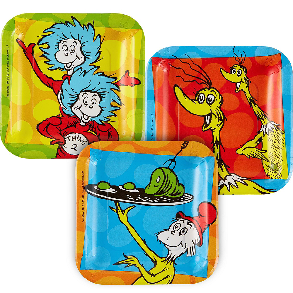 Dr. Seuss Tableware Party Kit for 16 Guests Image #2