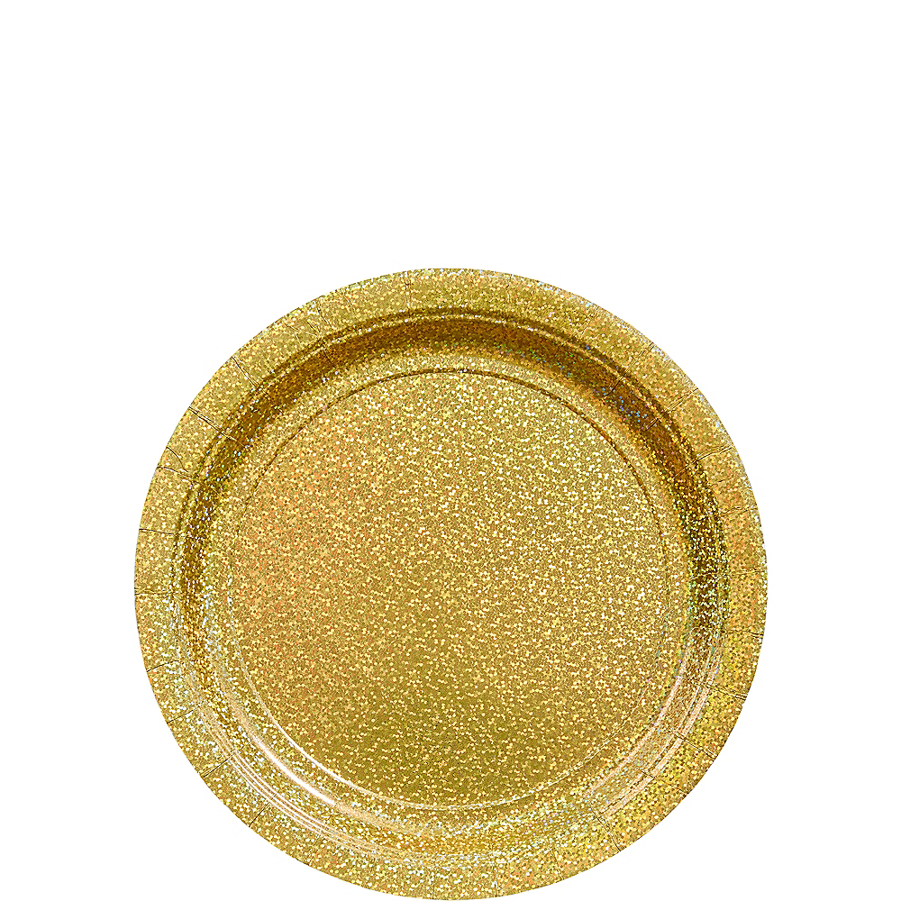 Prismatic Gold Dessert Plates, 6.75in, 8ct Image #1