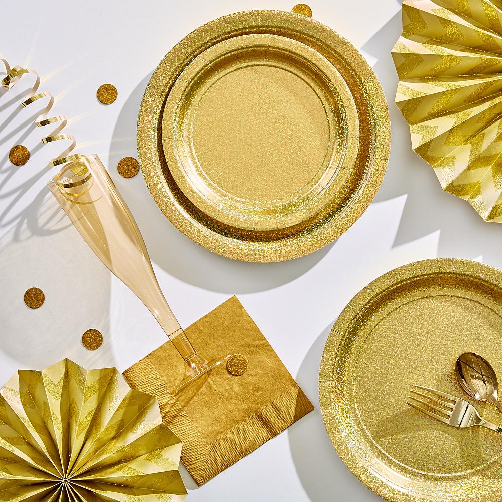 Prismatic Gold Dessert Plates, 6.75in, 8ct Image #2