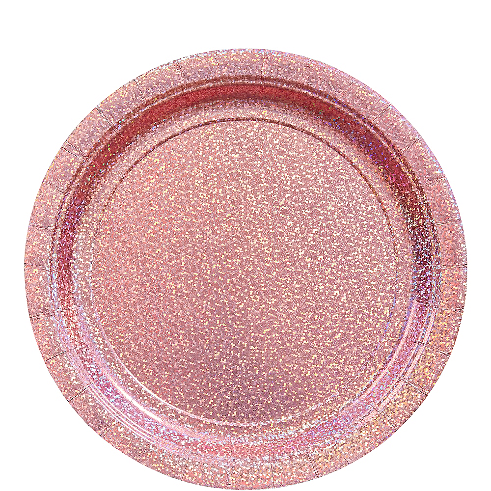 Prismatic Pink Lunch Plates 8ct Image #1