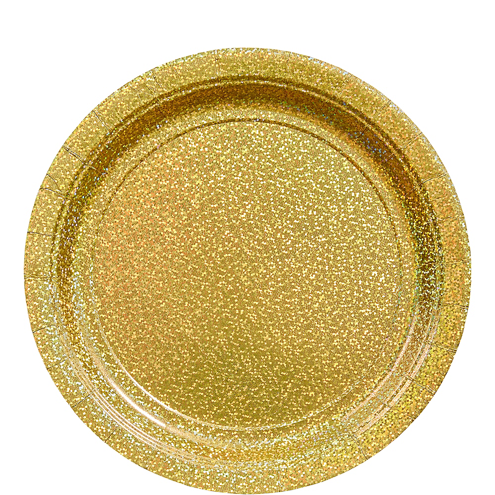 Prismatic Gold Lunch Plates 8ct Image #1