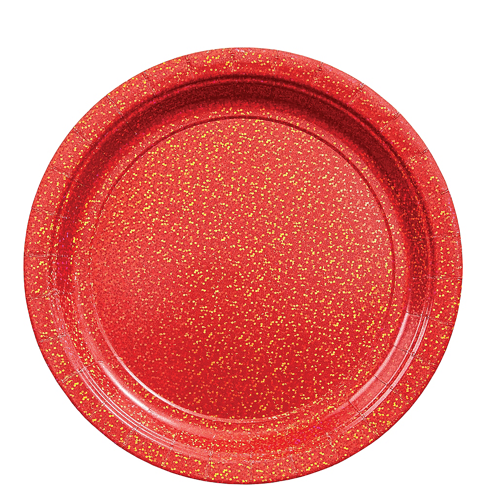 Prismatic Red Lunch Plates, 8.5in, 8ct Image #1