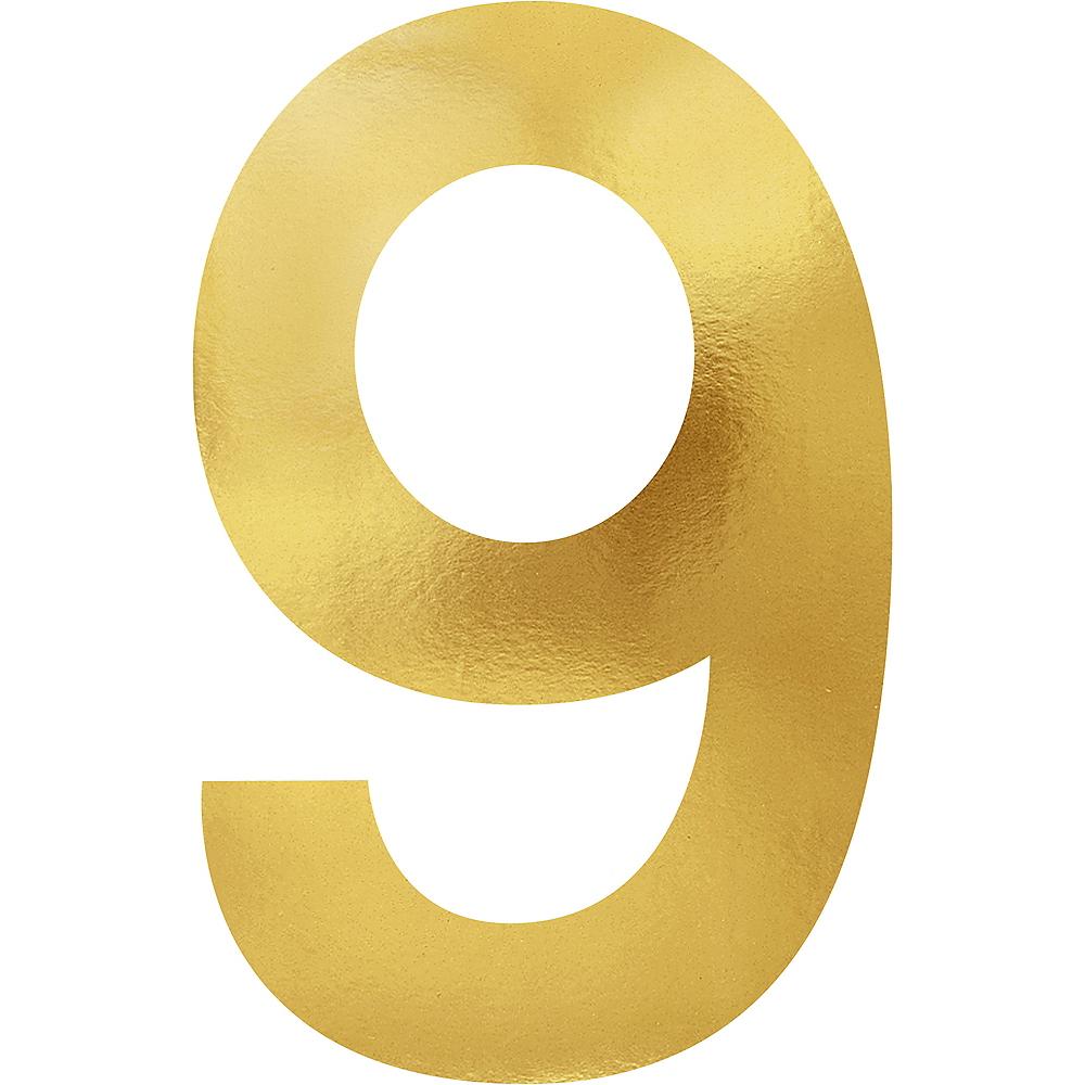 Metallic Gold Number 9 Cutouts 6ct