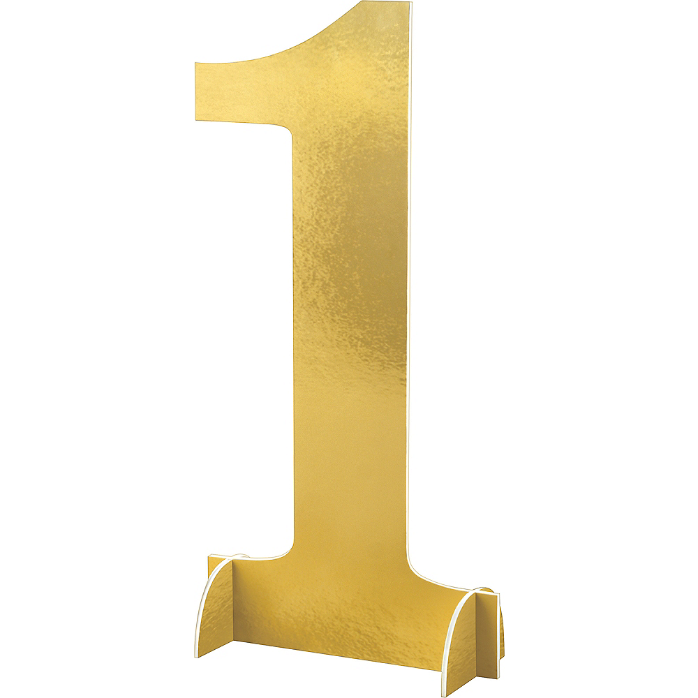 Giant Metallic Gold Number 1 Sign Image #1