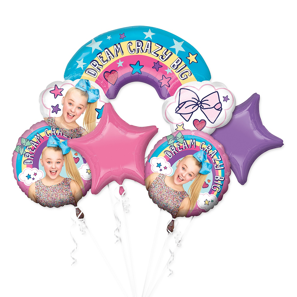 JoJo Siwa Balloon Bouquet 5pc Image 1