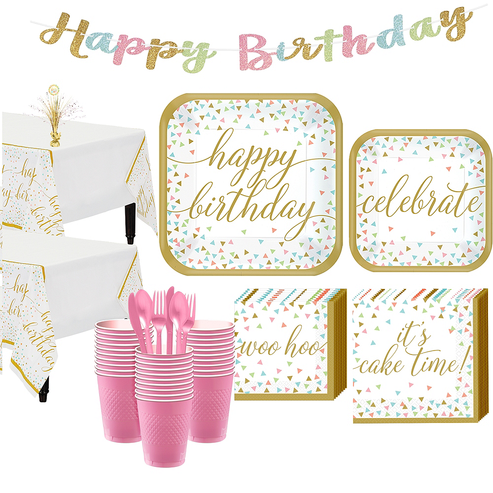 Confetti Fun Birthday Basic Party Kit for 36 Guests Image #1