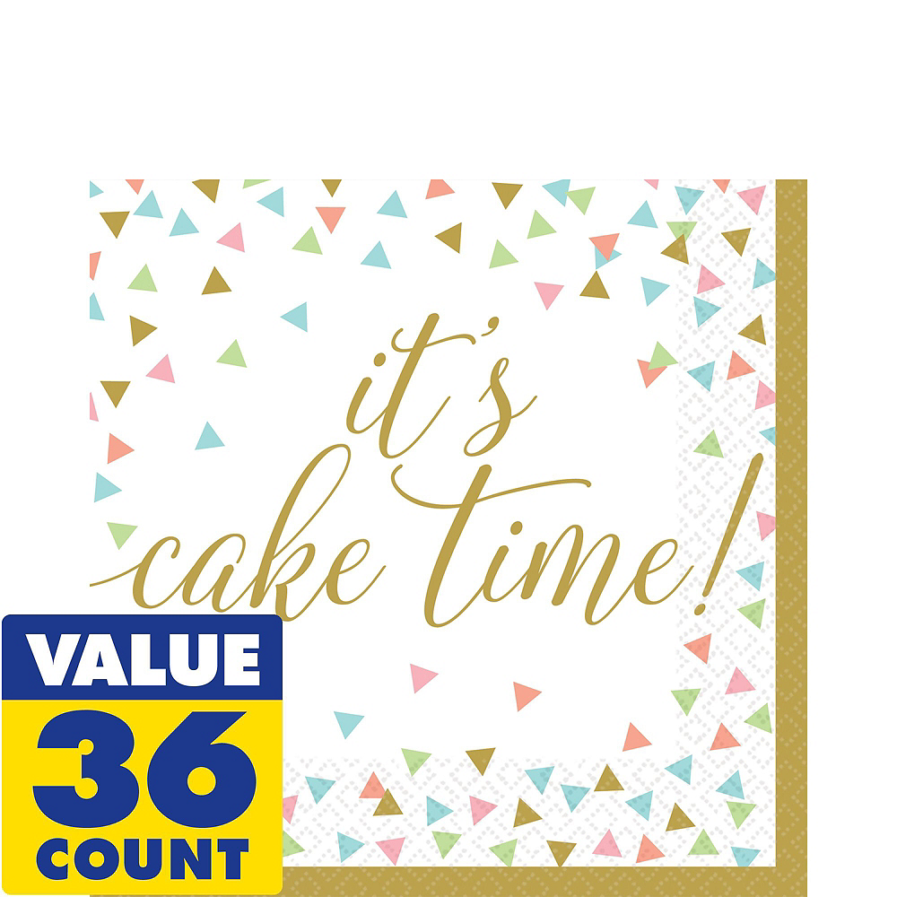 Confetti Fun Birthday Basic Party Kit for 36 Guests Image #5