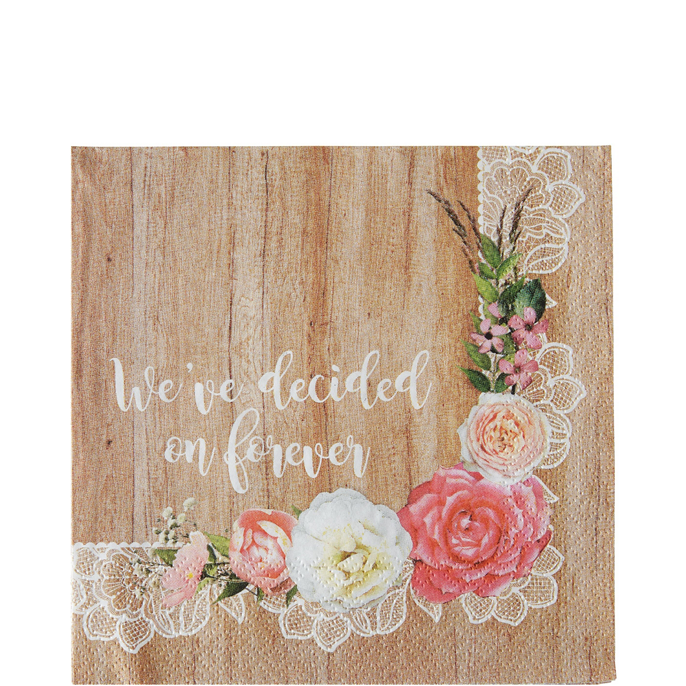 Floral & Lace Rustic Wedding Party Kit for 32 Guests Image #5