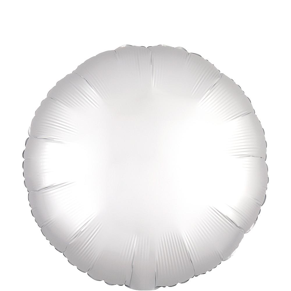 White Satin Round Balloon Image #1