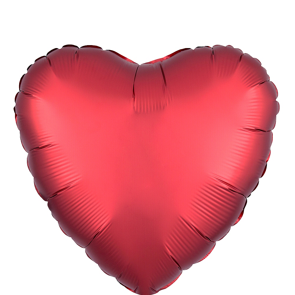 17in Red Satin Heart Balloon Image #1