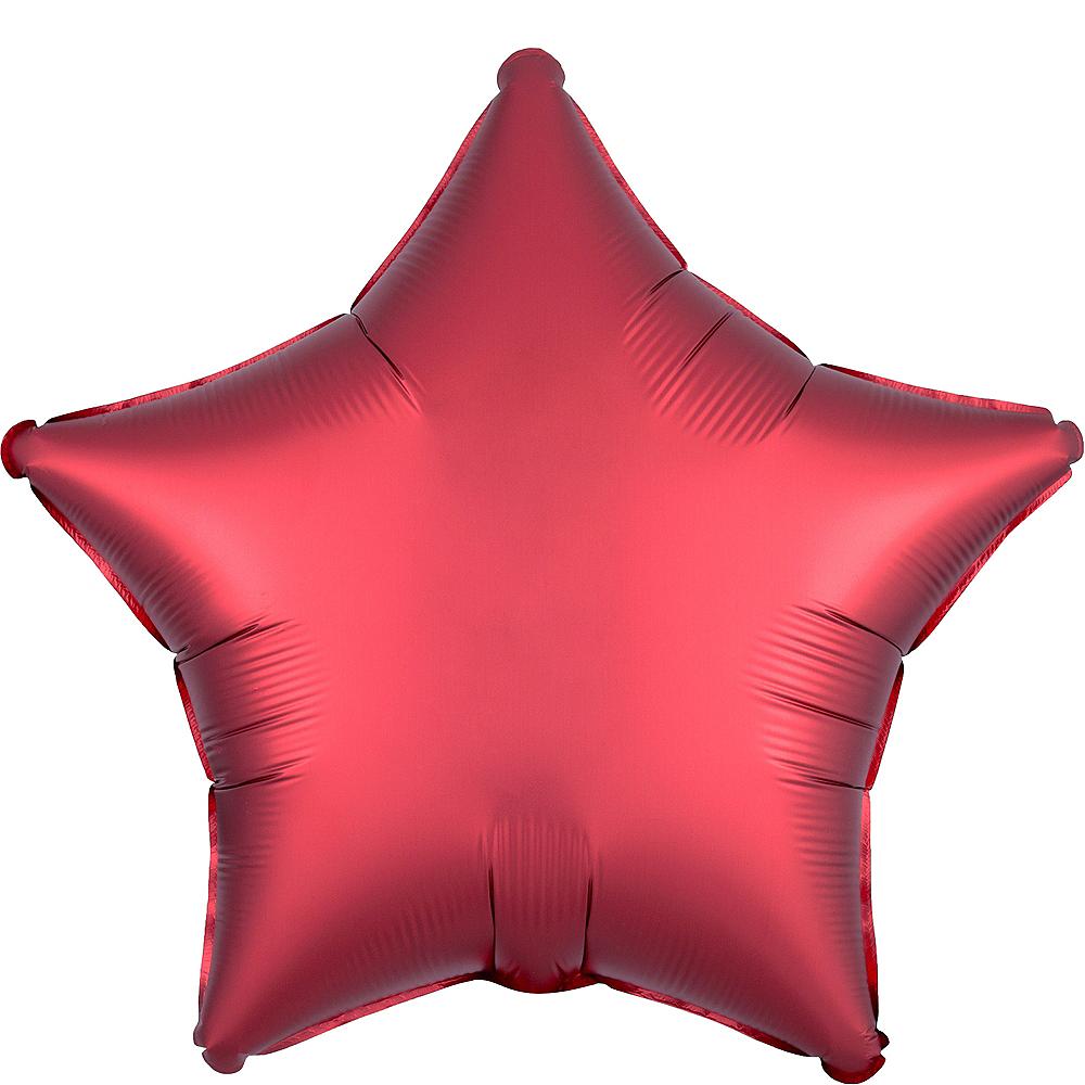 Red Satin Star Balloon Image #1