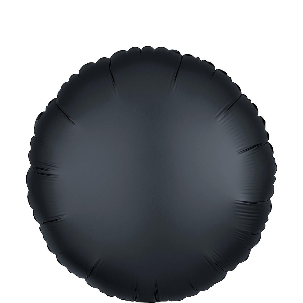 Black Satin Round Balloon Image #1